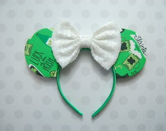 St. Patrick's Day Bow Ears