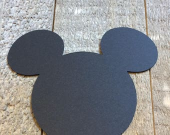 Black Mickey Mouse Die Cuts 2.5 Inches Decor Cut Out Centerpiece Embellishments Bullentin Board Decoration C139