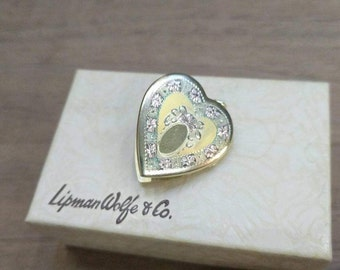 Hayward Heart Locket 12k gold