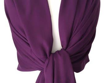 Purple Pashmina , Large Wrap, Ladies Violet Shawl, Wedding, Prom Accessory, Bridesmaids Wrap