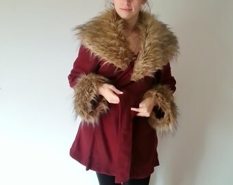 Faux fur coat | Etsy