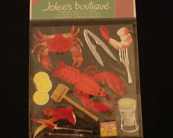 Jolee's Boutique-Crustacean-10 Dimensional Stickers-Brand New-Crab, Lobster,