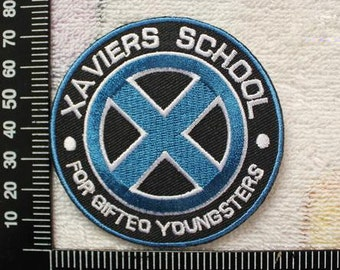 X Men Iron on Patch Xavier's School for Gifted Youngsters Logo Applique CD138