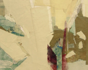 "Original abstract paper-collage,""Prisma"", 16""x12"""