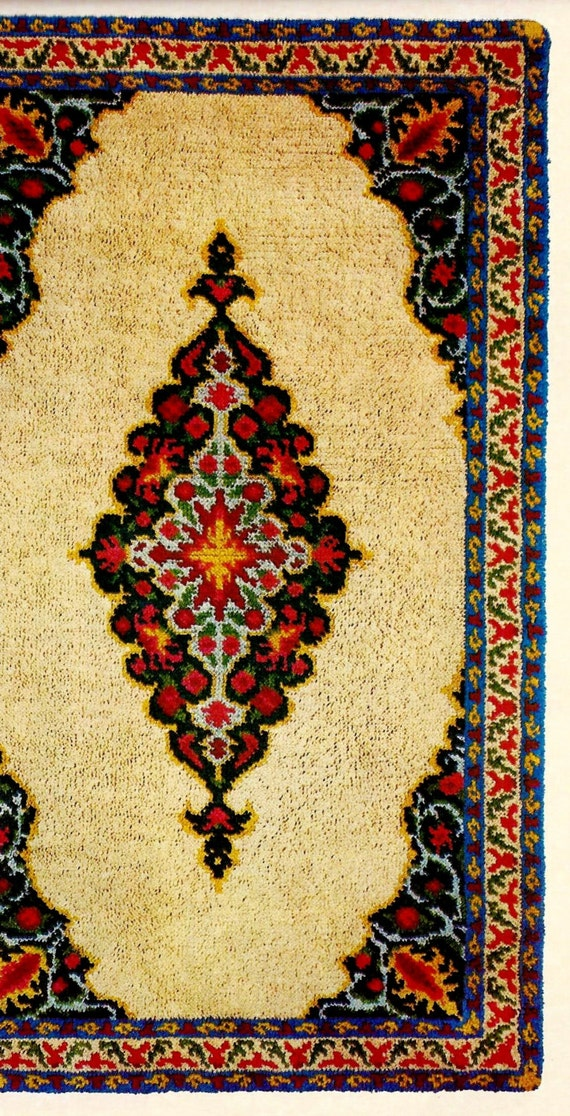 Touch Of Persia Hooked Rug Vintage Chart Pattern Download