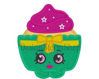 Shopkins Applique Design/Machine Embroidery Design/Shopkin Patty Cake/Instant Digital Download File/Boy or Girl
