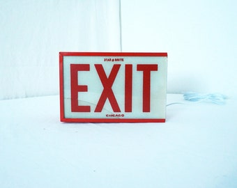 Vintage Exit Sign Turned Into Wall Lighting Industrial Lamp