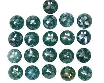 3.83 Ct Natural Loose Diamond Round Rose Cut Blue Color 21 Pcs L7688