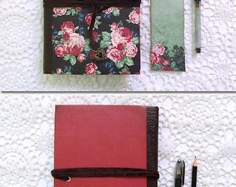 Romantic floral scrapbook album, journal, for your lovely memories.
