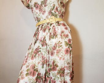 FREE  SHIPPING   1950  Cotton   Day  Dress