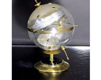 Mid Century Modern Vintage Sputnik Brass & Acrylic Veranderlich Barometer