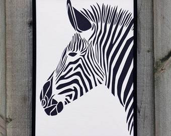 Zebra Paper Cut (Other Colours Available)
