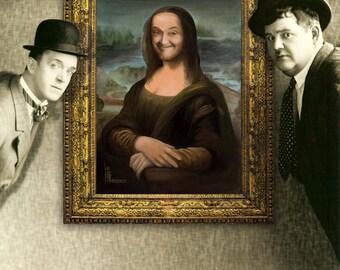Stan Laurel as Mona Lisa original Acrylic painting