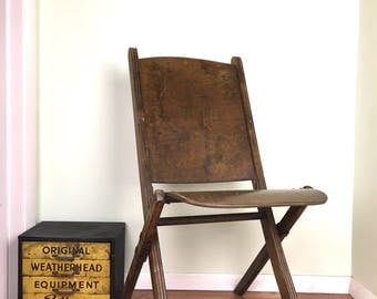 antique wood folding chair early wooden picnic chair 1930s wood theatre style folding chair