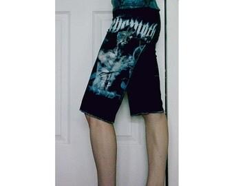 SALE Behemoth Capri Pants OOAK Women's Death Metal Clothing
