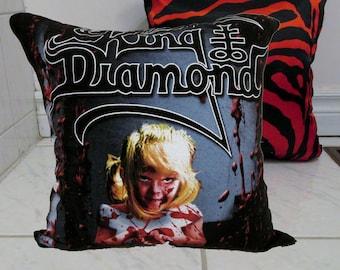 King Diamond Pillow DIY Heavy Metal Decor 4 (Cover or Full PIllow)