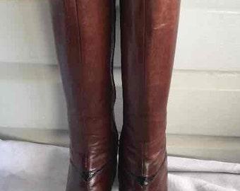 Vintage  Salvatore ferragamo Women's Leather boots size 7.5