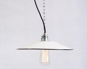 """Industrial Factory 12"""" flat Shade enamel Ceiling Lighting lamp"""