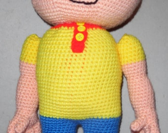 Caillou Inspired Stuffed Toy Crochet Pattern