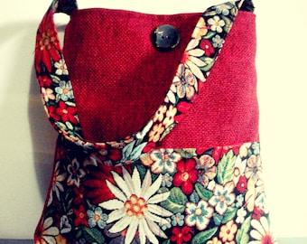 Arabesque bags - Shoulder bag - Gobelin with flowers