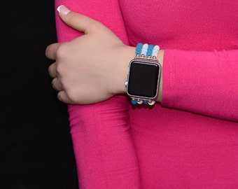 Apple Watch Band 38mm - 42mm Apple Watch Strap - Stretch Fit No Clasp Apple Watch Accessories - Lugs Adapter - iWatch Band Women