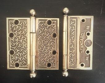 4 1/2 x 4 1/2 Solid Antique Rice Door Hinges 530794