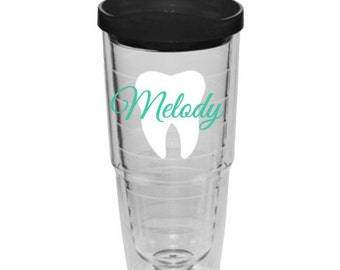 Personalized Dental hygienist tumbler, dental assistant tumbler, tech or Dentist tumbler, dentist gift, dental assistant gift