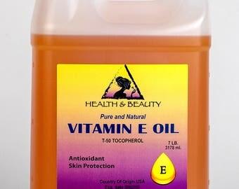 7 Lb, 1 gal TOCOPHEROL T-50 VITAMIN E OIL Anti Aging Natural Premium Pure