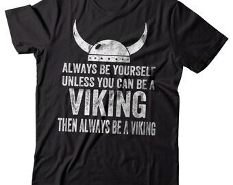 Viking T-Shirt Funny Vikings Tee Shirt Valhalla valknut Odin Sign T-Shirt