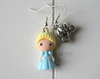 Cinderella, Cinderella inspired, earrings
