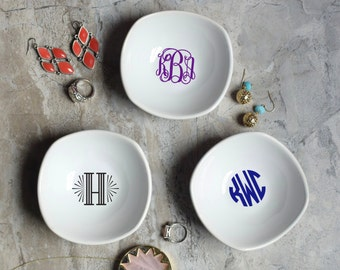Ring Jewelry Dish - Monogram Jewelry Dish - Bridesmaid Ring Dish - Ring Dish Monogram Dish - Bridesmaid Jewelry Dish
