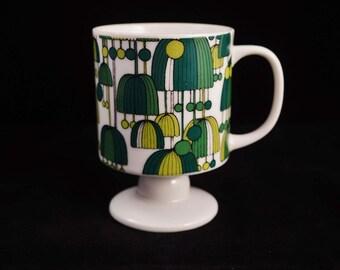 Vintage Ceramic Pedestal Coffee Mug / Tea Cup Made in Japan