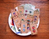 Button Lot, Novelty Buttons, Large Buttons, Sewing Notions, Ceramic Buttons, Gardening, Coffee, Angles, Mittens