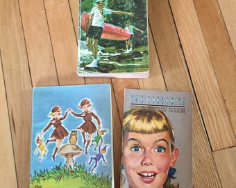 Vintage 1960s Canadian Brownies Boy Scouts Girl Guides Handbook Stories Books!