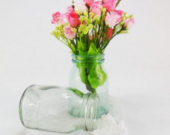 Vintage glass jar Wedding decor Flower vase Rustic weddings Rustic Glass Jars Flower vase jars Antique jars Vintage glass bottle