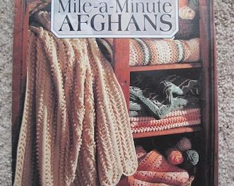 Crochet Book - Wonderful Mile-a-Minute Afghans - 5 Designs - Leisure Arts #2476 - Vintage 1993