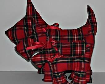 Royal Stewart Red Tartan Scottie Dog