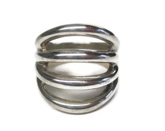 Vintage Modern Sterling Ring Size 7.5