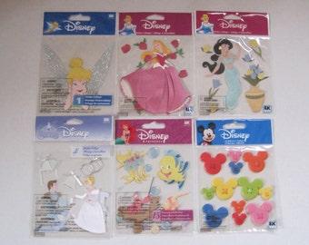 Destash Lot of 6 Paper Piecing Licensed Disney Scrapbooking Sticker Sets