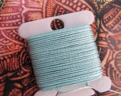 Jewelry String for Bracelets Necklaces Sea Foam Green Jewelry Thread  Strong Twisted Nylon 288 Inches 7.31 Meters 18 Bead Cord S-Lon Size.5