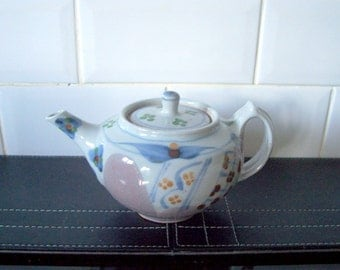 Studio Pottery Teapot stamped with the letter f