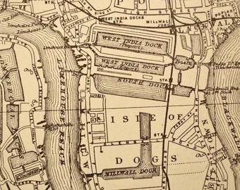 London Map London Street Map Antique London England