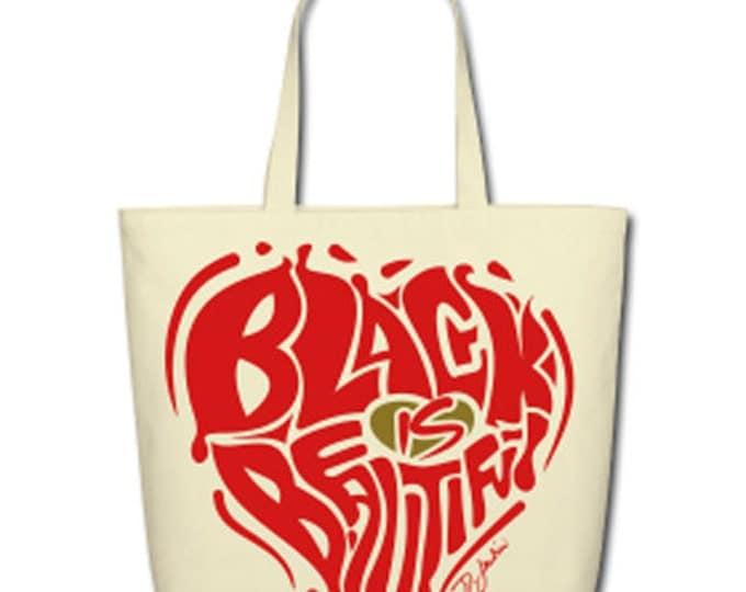 Black is Beautiful Natural Cotton Canvas Tote - Biege