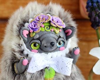 hedgehog art doll collectible hedgehog figurine kawaii hedgehog toy ooak plush doll hedgehog plush