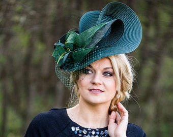 Hat Royal Ascot has ball Hat Kentucky-Derby horse racing has couture millinery Sinamay wedding Fascinator U15