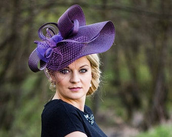 Hat Royal Ascot has Ballhut Kentucky Derby has horse racing couture Millinery Sinamay has wedding fascinated