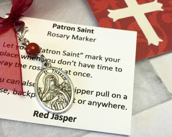 Saint Therese Rosary Marker/Zipper Pull