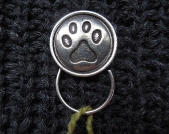 Paw Knitting Pin, Portuguese Knitting Pin, Magnetic Knitting Pin, Knitting Hook, Handmade Knitting Pin