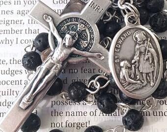 Saint Edward Rosary Catholic Rosaries Mary Rosary St Edward Rosary Confirmation Gift Saint Rosary Catholic Gift