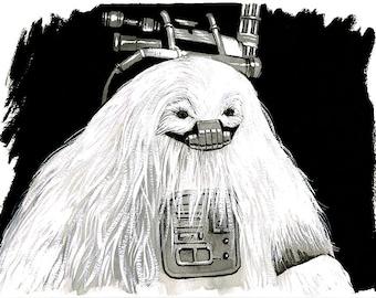 Star Wars - Rogue One - Moroff original ink drawing